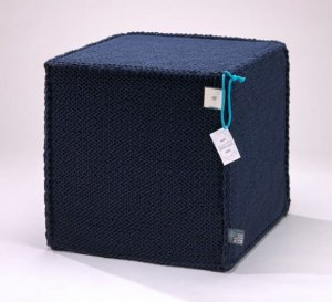 Puf Beauty Cube dark blue