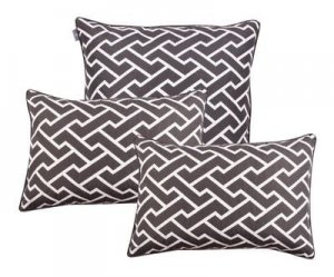 Pillowcase set Maze Grey