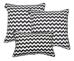 Pillowcase set Zig Zag Black White