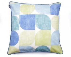 Decorative pillow Circles Blue And Green 60x60 cm