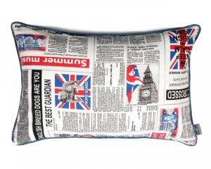 Decorative pillow  Newspaper (1)