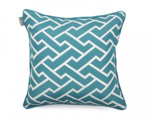 Decorative pillow Maze Turquoise