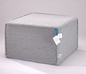 Pouf for sitting Comfortable Flat grey