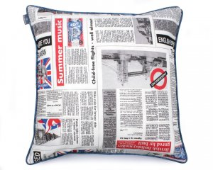 Decorative pillow  Newspaper