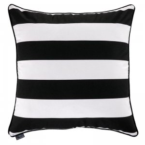 Decorative pillow Belts Black White