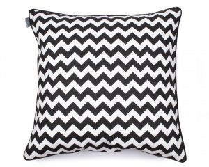 Decorative pillow  Zig Zag Black White